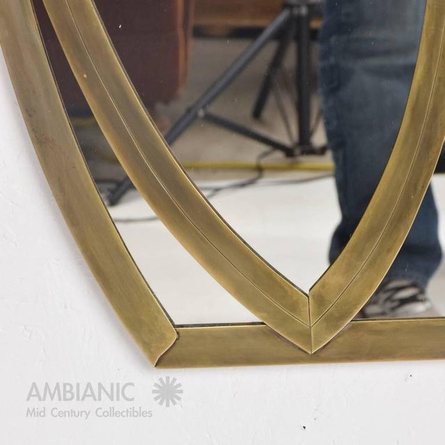 Gold Mid-Century Modern Italian Mirror For Sale - Image 8 of 11