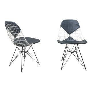 1960s Eames for Herman Miller Bikini Eiffel D K R Chairs - a Pair