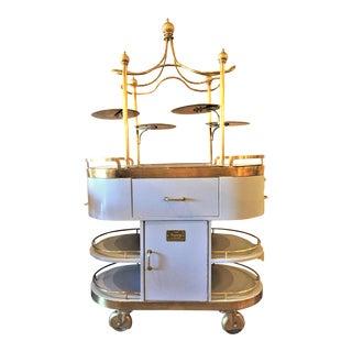 Art Nouveau Style Serving Cart