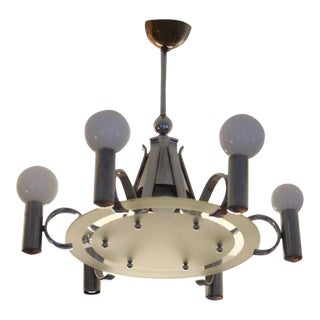 Bauhaus chandelier, 1930s For Sale