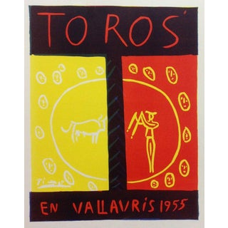 1959 Pablo Picasso 74, Lithograph Toros en Vallaris 1955, Art in Posters For Sale