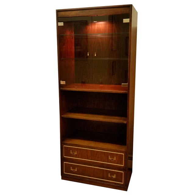 Thomasville Campaign Style Display Cabinet - Image 1 of 12