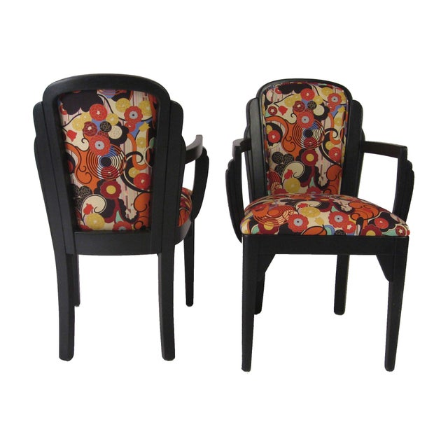 Art Deco Arm Chairs - A Pair - Image 6 of 6