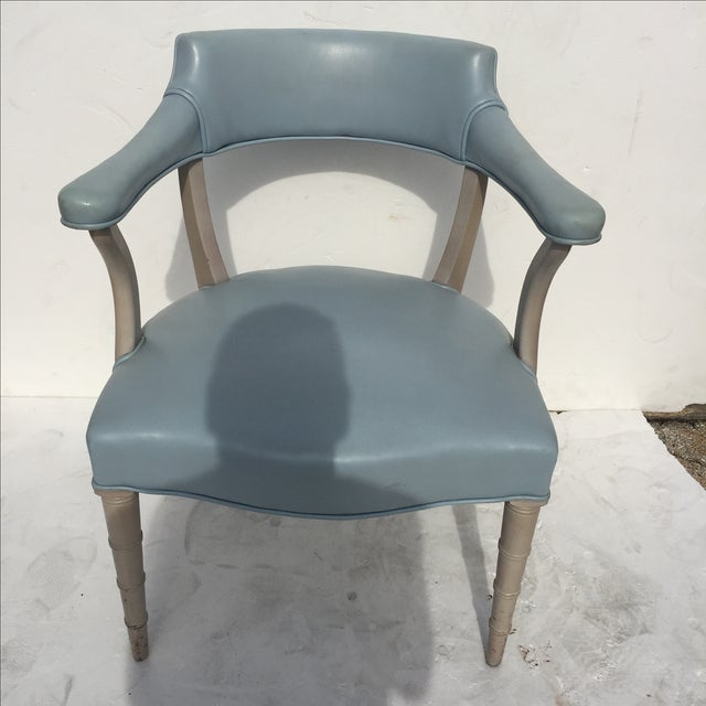 Faux Bamboo Captain's Chairs - A Pair - Image 7 of 10