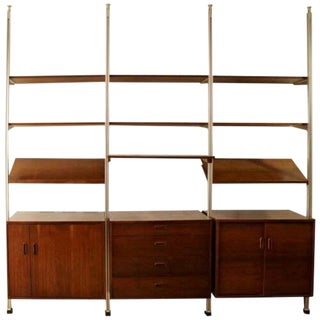 Mid Century Modern Wall George Nelson Shelving Omni Wall Unit 1960s For Sale