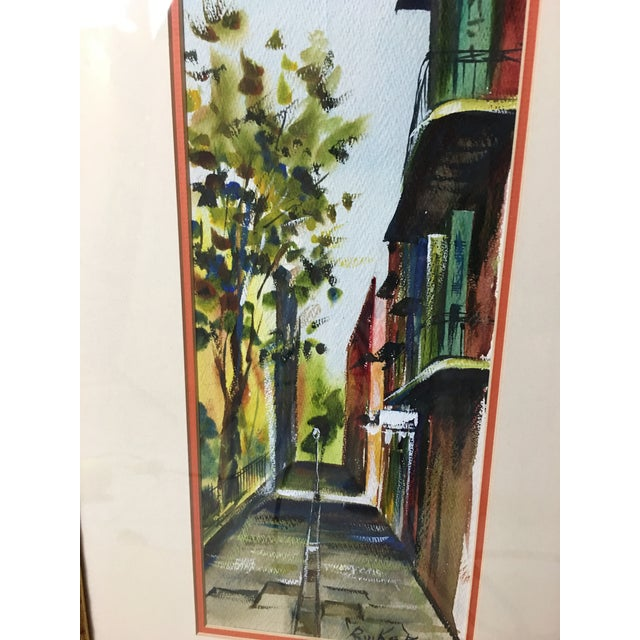 "1960s ""New Orleans"" Watercolor Painting by Robert M.Rucker For Sale In Detroit - Image 6 of 8"