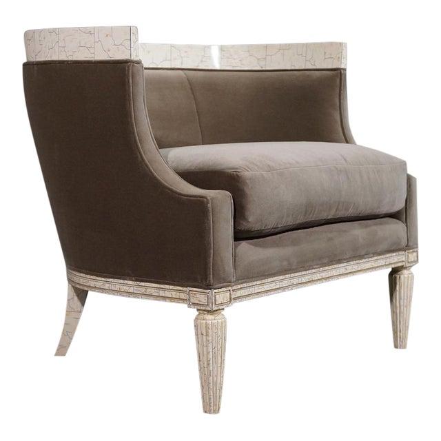 Velvet Barrel Chair - Image 1 of 8
