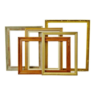 Vintage Wood Picture Frames - Set of 5
