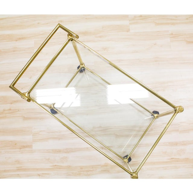 Italian Brass & Glass Bar Cart - Image 6 of 10