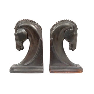 1930s Metal Bookends Made by Dodge a Ray F. Dodge Factory For Sale