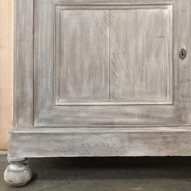 Wood 19th Century French Louis Philippe Period Whitewashed Bookcase For Sale - Image 7 of 13