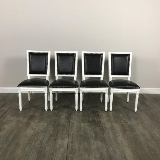 Leather Louis Dining Chairs - Set of 4 - Image 2 of 11