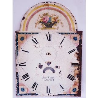 Antique Hand-Painted Floral Clock Face Preview