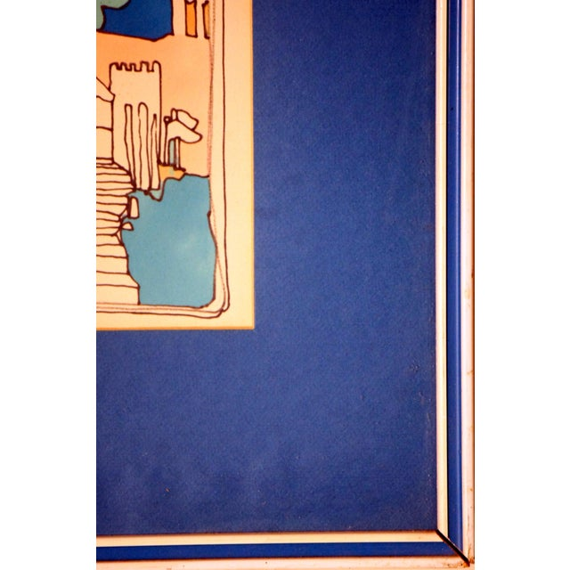"E. Price Egan ""Brueger Vision"" Framed Pen and Ink Drawing For Sale - Image 11 of 13"