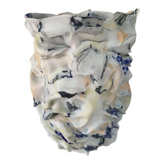 Fingered Dawn Sculptural Porcelain Vase by Babs Haenen Inspired by Willem De Kooning For Sale