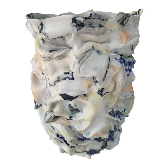 Fingered Dawn Sculptural Porcelain Vase by Babs Haenen Inspired by Willem De Kooning For Sale