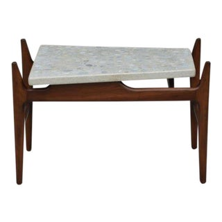 Rare Trapeze Terrazzo Side Table by Harvey Probber For Sale