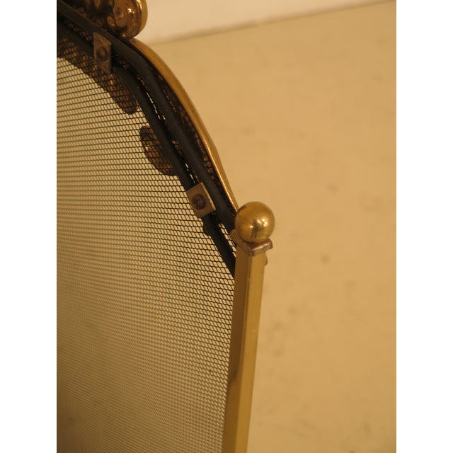 French Louis XV Style Brass Folding Firescreen For Sale - Image 9 of 10