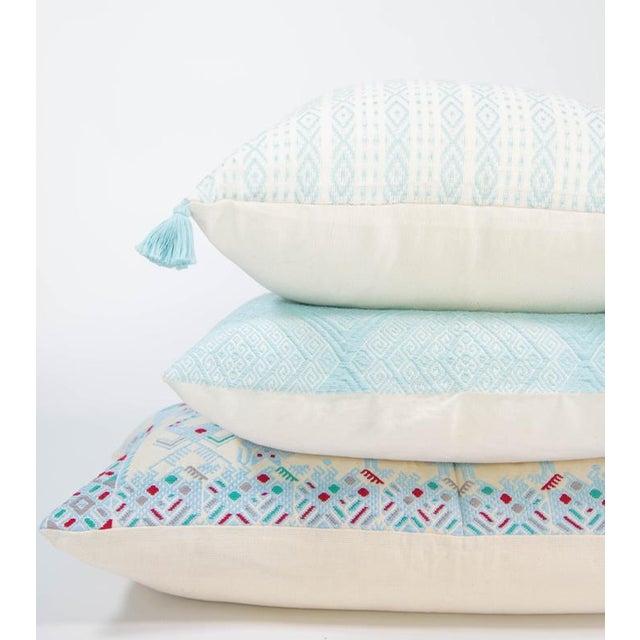 Serenity Blue Handwoven Guatemalan Pillow - Image 3 of 7
