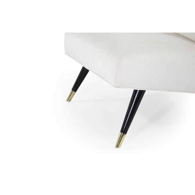 White Karpen of California Slipper Chairs, 1950s For Sale - Image 8 of 11