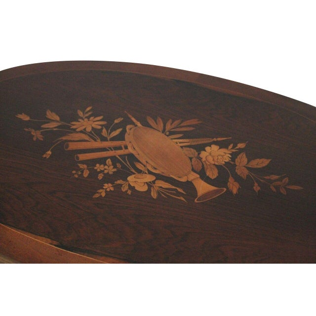 Antique Rosewood Marquetry Inlay Table - Image 2 of 3