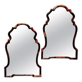 Pair of Chippendale Style Horn Mirror For Sale