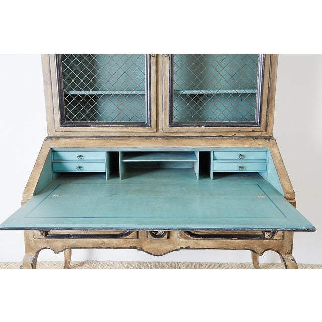 Swedish Gustavian Style Two-Part Secretaire Bookcase For Sale - Image 11 of 13