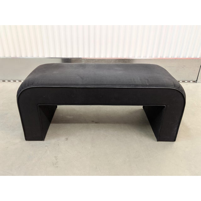 1990's Modern Upholstered waterfall style bench.