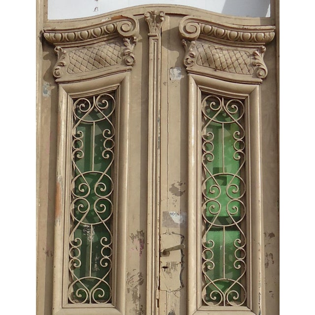Traditional Antique Ornate South American Doors - A Pair For Sale - Image 3 of 11