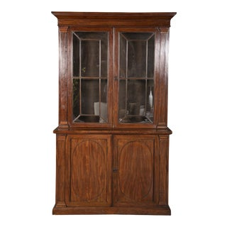 George IV Mahogany Bookcase Cabinet For Sale