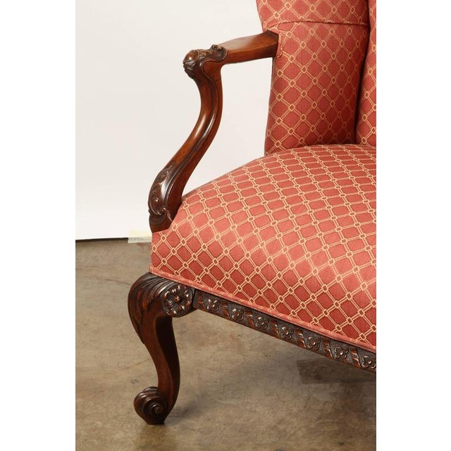 Finely Carved English Victorian Upholstered Settles - Image 6 of 8