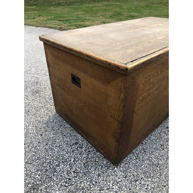 Farmhouse Late 19th Century Primitive Blanket Chest For Sale - Image 3 of 12
