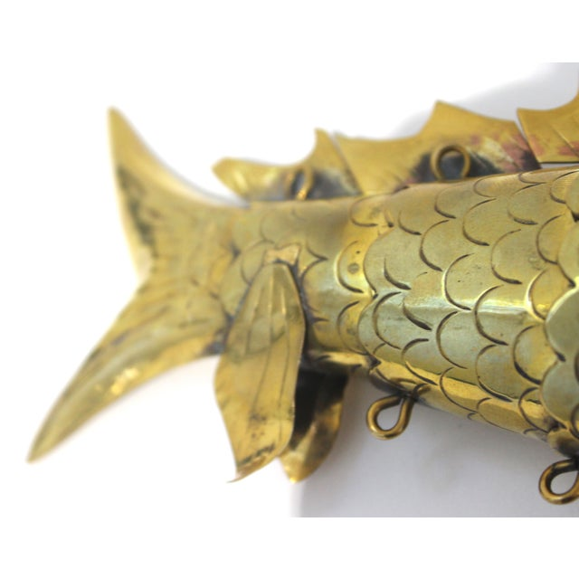 Mid-Century Modern Articulated Fish Sculpture From Malta For Sale - Image 12 of 13
