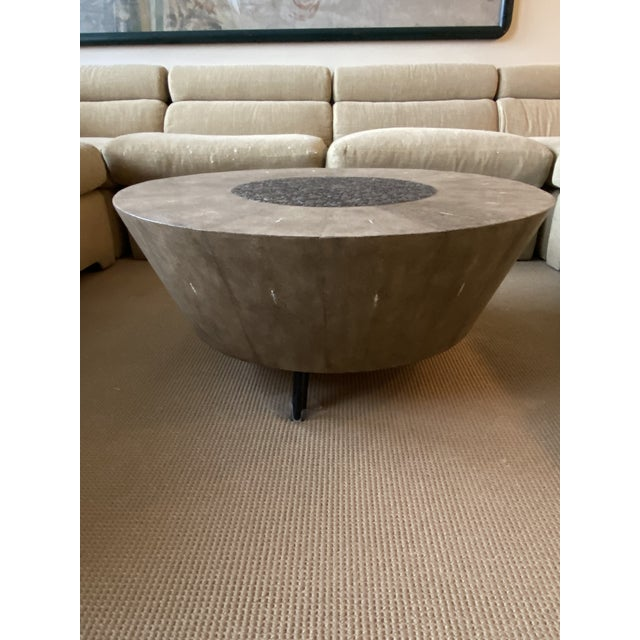 R&Y Augousti Contemporary Shagreen Coffee Table For Sale - Image 4 of 11