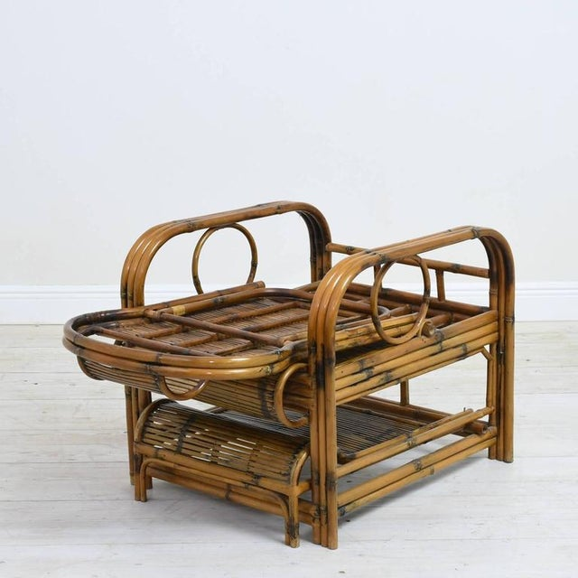 1920s Vintage French Indochina Bamboo Lounge Chairs- A Pair For Sale - Image 11 of 12