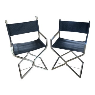Vintage Directors Chairs - a Pair For Sale