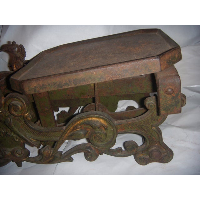Victorian German Made Cast Iron & Marble Scale For Sale - Image 7 of 11
