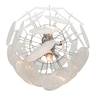 Clear Pulegoso Disc Chandelier