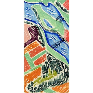 Abstract Landscape Serigraph For Sale