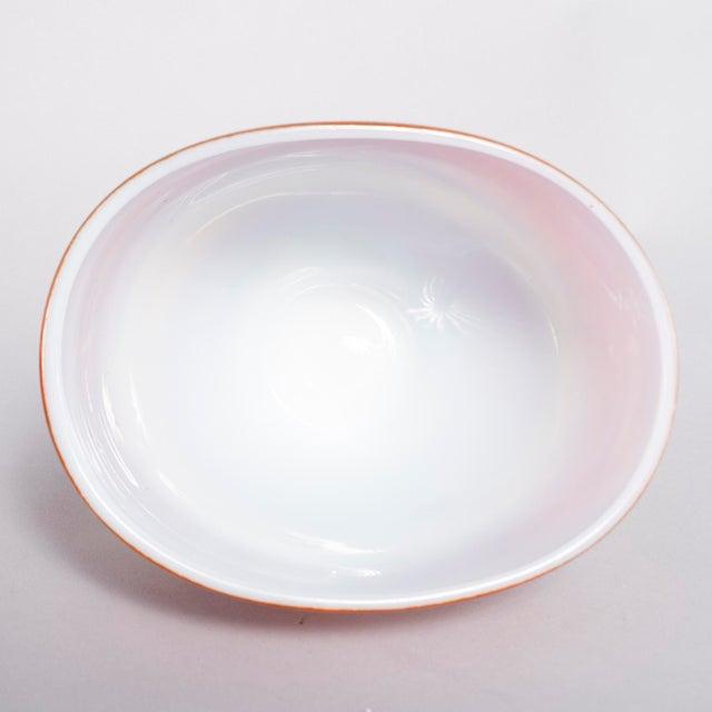 1960s Ermanno Nason for Antonio Da Ros Opaline Murano Glass Bowl For Sale - Image 5 of 10