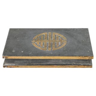 Gray Metal Chinoiserie Box For Sale