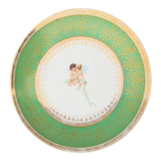 Decorative Austrian Putti Plate For Sale