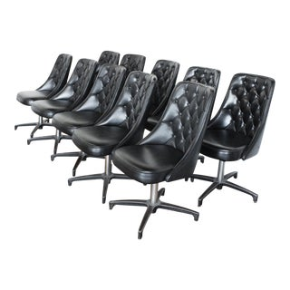 10 Chromcraft Tufted Swivel Boardroom Chairs - Chromantic