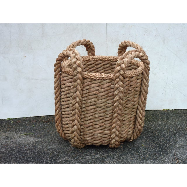 Late 20th Century Extra Large Vintage Woven Grass Basket For Sale - Image 5 of 5