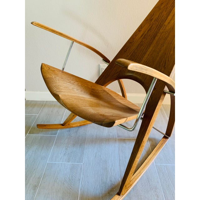 Metal Mid Century Modern Leon Meyer Sculptural Rocking Chair For Sale - Image 7 of 13
