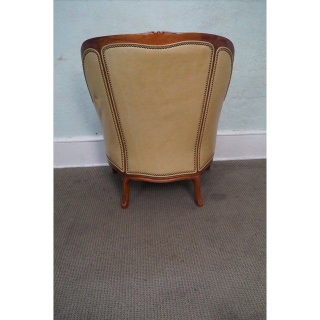 Hancock & Moore Louis XV Wing Bergere Chair - Image 5 of 10