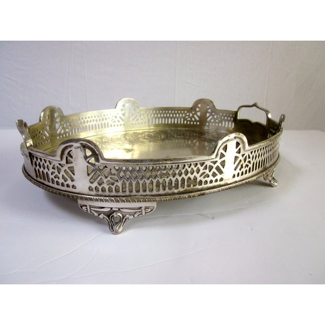 Ornate Silver Perfume Vanity Serving Tray - Image 2 of 8