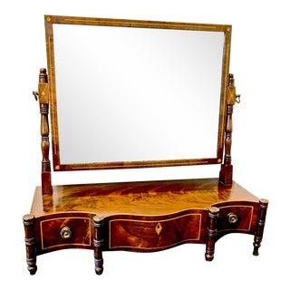 English Regency Mahogany Dressing Mirror, 1810s