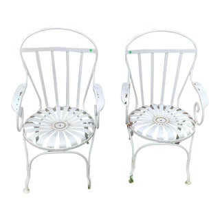 Art Deco Francois Carre Sunburst Chairs - a Pair For Sale