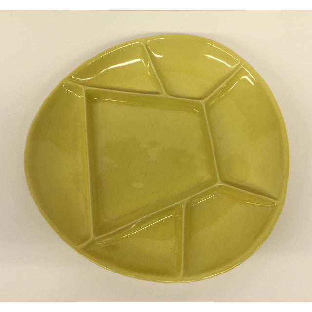 Mid-Century Modern Green Divided Plate For Sale In Boston - Image 6 of 8
